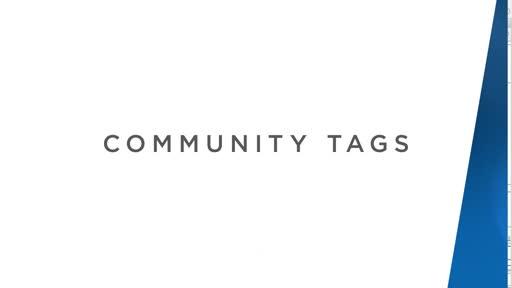 Community Tags