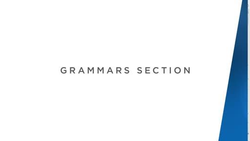 Grammars Section