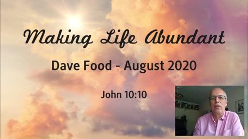 300820 Celebration - Dave Food - Making Life Abundant