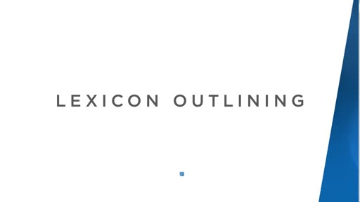 Lexicon Outlining