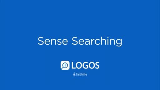 Sense Searching