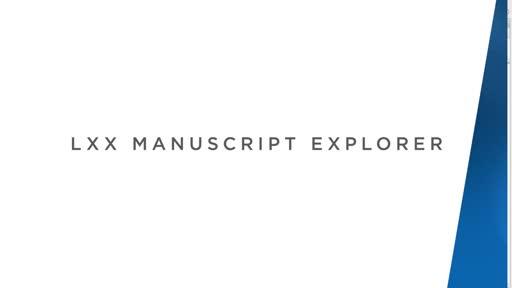 LXX MSS Explorer