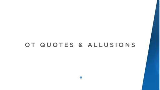 OT Quotes and Allusions
