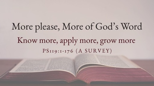 More please, More of God's Word