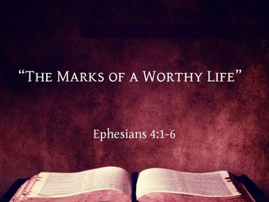 """""""The Marks of a Worthy Life"""""""