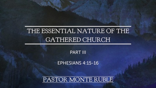 The Essential Nature of the Gathered Church Part III