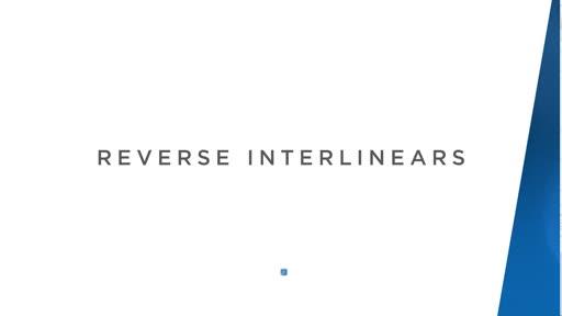 Reverse Interlinears