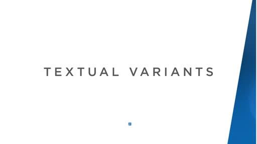 Textual Variants