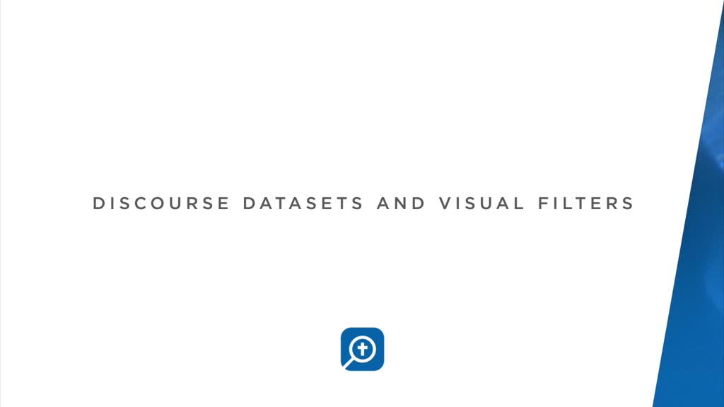 Discourse Datasets and Visual Filters