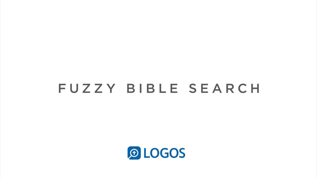 Fuzzy Bible Search
