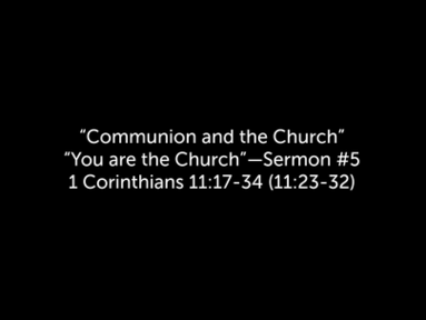 9/06/2020 - Communion and the Church