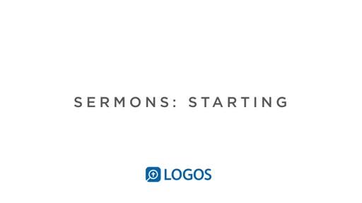 Sermon Editor Getting Started