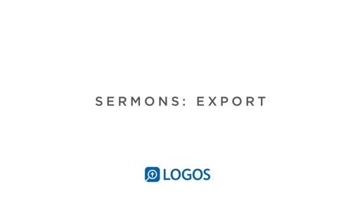 Sermon Editor Export
