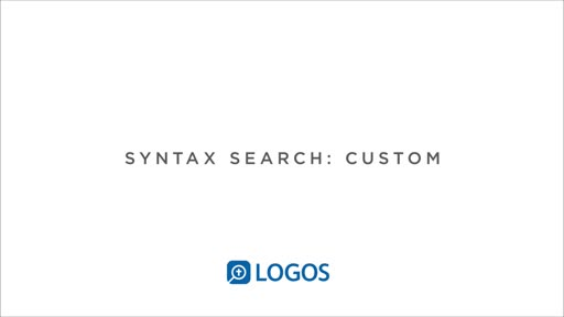 Syntax Search Part 4: Custom Searches