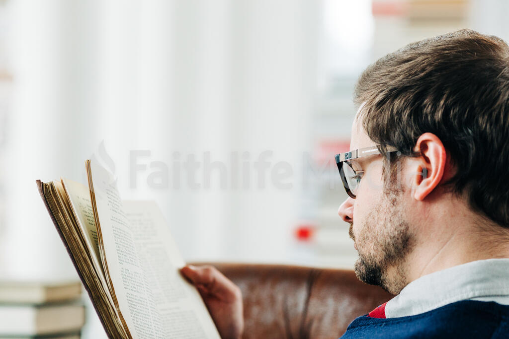 Man Reading a Book large preview