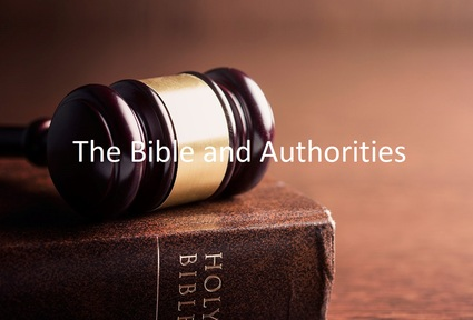The Bible and Authorities (4)