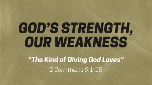 The Kind Of Giving God Loves