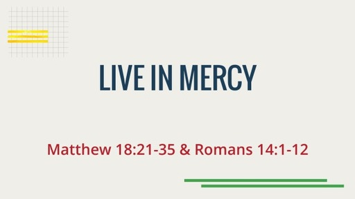 Live in Mercy