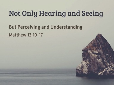 2020.09.13a Not Only Hearing and Seeing