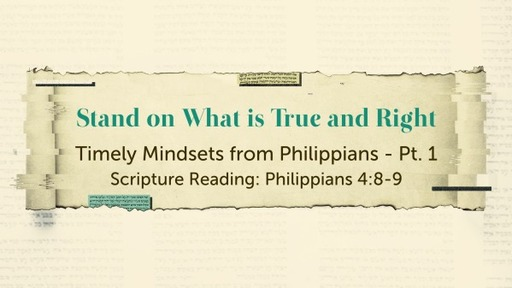 Timely Mindsets from Philippians