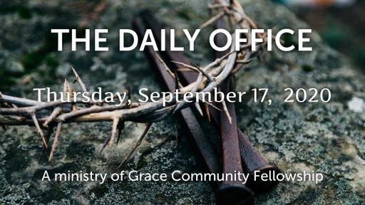 Daily Office - September 17, 2020