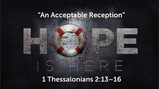 """""""An Acceptable Reception"""" 