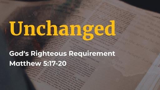 Matthew 5:17-20 / Fulfilled