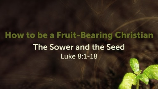 How to be a Fruit-Bearing Christian- The Sower and the Seed: Part 1