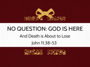 No Question: God is Here