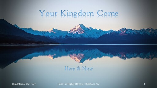 Your Kingdom Come Here And Now