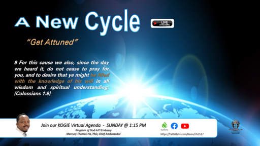 "A NEW CYCLE, ""Get Attuned"" by Mercury Thomas-Ha  
