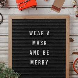 Wear a Mask and Be Merry  PowerPoint image 5
