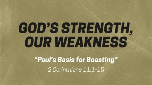 Paul's Basis for Boasting
