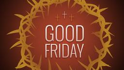 Illustrated Crown of Thorns good friday 16x9 PowerPoint Photoshop image