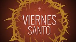 Illustrated Crown of Thorns viernes santo 16x9 PowerPoint Photoshop image