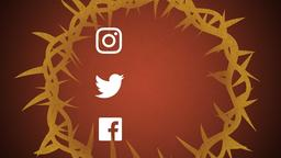 Illustrated Crown of Thorns social media 16x9 PowerPoint Photoshop image