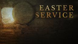 Risen easter service announcement 16x9 PowerPoint Photoshop image