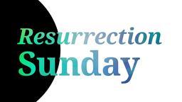 Resurrection Sunday 16x9 PowerPoint Photoshop image