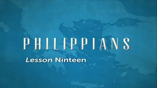 Philippians Lesson 19