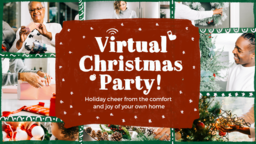 Virtual Christmas Party  PowerPoint image 1