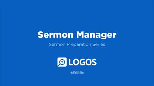 8. Sermon Manager