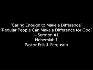 10/11/2020 - Caring Enough to Make a Difference