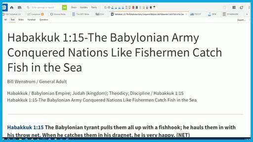 Habakkuk 1:15-The Babylonian Army Conquered Nations Like Fishermen Catch Fish in the Sea