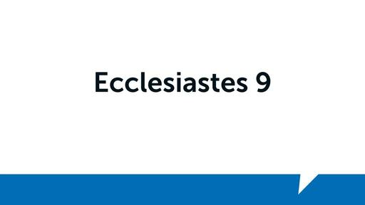 Ecclesiastes 9