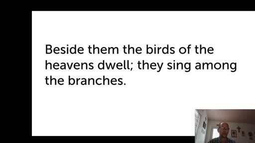 Thur.  Oct. 15,  '20 4th video PPT Psalm 104