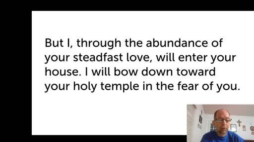 Sat.  Oct. 17,  '20 3rd PPT Psalm 5