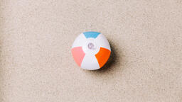 Beach Ball on Sand  image 4
