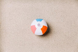 Beach Ball on Sand  image 5