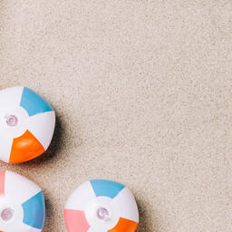 Beach Ball on Sand  image 7