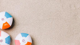 Beach Ball on Sand  image 9